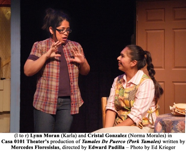 Tamales_Photo 14 - (l to r) Lynn Moran (Karla) and Cristal Gonzalez (Norma Morales) in Casa TDP_A426 copy