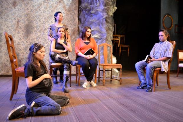Elia Saldaña,Cristina Frias, Chrstine Marie Mantilla, Jacqueline Real, Carolyn Zeller. Photo: Blake Boyd