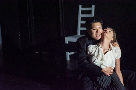 Karina Wolfe as Lil and Arthur Keng as Grig in White Hot written by Tommy Smith