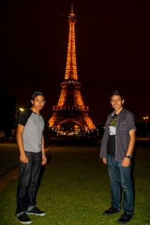 My brother also studied in Paris through another program. This is one of the only photos we took together, and it's my mom's favorite. Photo by Alejandra Marquez