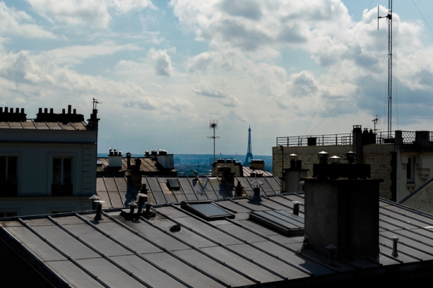 This is an image of the rooftops of Montmartre. I found this view atop a hill and couldn't believe it.