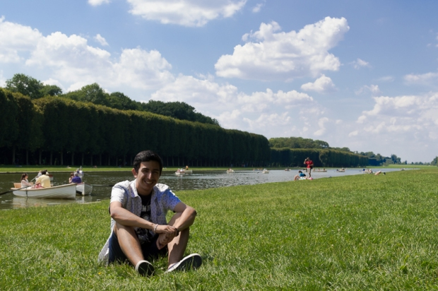 Ricardo in the gardens behind the Palais de Versailles.  Photo by Judy Chang