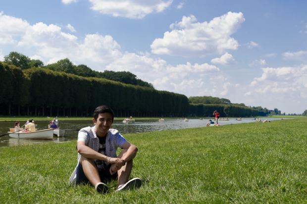 Ricardo in the gardens behind the Palais de Versailles.  Photo by Judy Chang